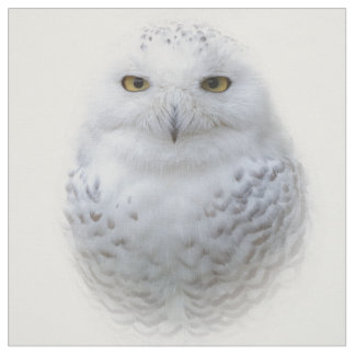 A Snowy Owl Encounter Fabric