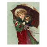"""""""A Snowy Walk"""" Postcard"""