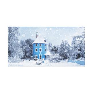 A Snowy Winter Evening Canvas Print
