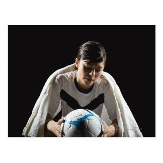 A soccer player 7 postcard