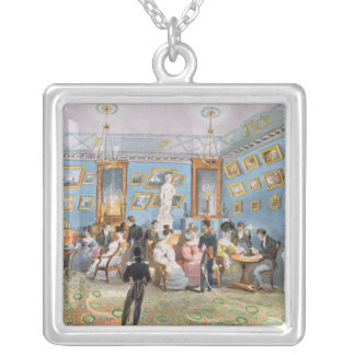 A Society Drawing Room, c.1830 Silver Plated Necklace