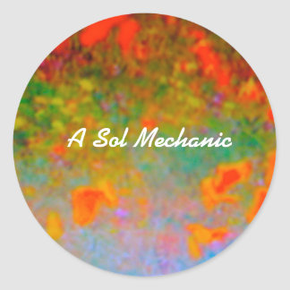 A Sol Mechanic Classic Round Sticker