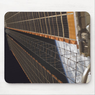 A solar array wing mouse pad