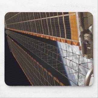A solar array wing mousepad