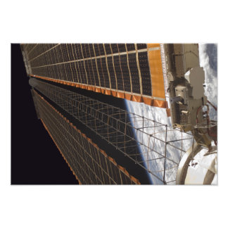 A solar array wing photo print