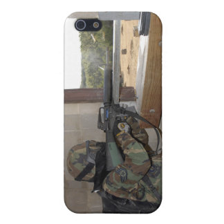 A soldier acts as an opposition force iPhone 5 cases