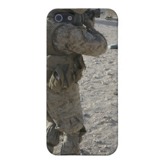 A soldier engages his target on a shooting rang iPhone 5 cases