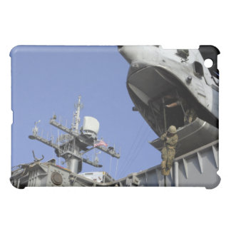A soldier fast-ropes iPad mini cases