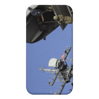 A soldier fast-ropes iPhone 4/4S covers