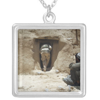 A soldier from the National Guard Silver Plated Necklace