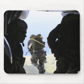 A Soldier performs a static-line jump Mouse Mat