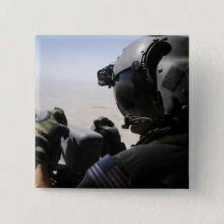 A soldier provides security 15 cm square badge