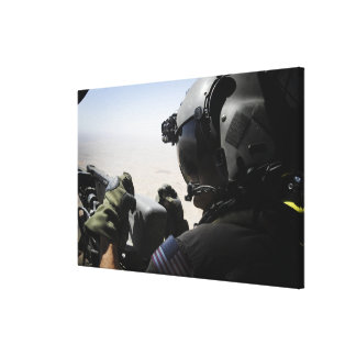 A soldier provides security canvas print