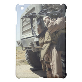 A soldier provides security for Marines Cover For The iPad Mini