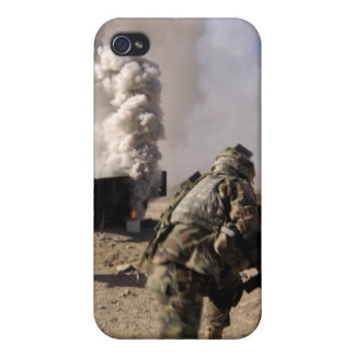 A Soldier reacts to a controlled explos iPhone 4 Cover