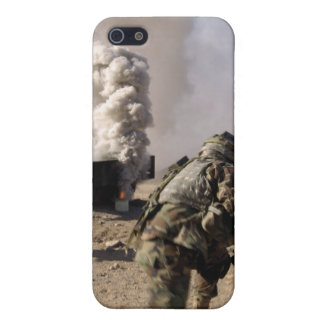 A Soldier reacts to a controlled explos iPhone 5 Cover