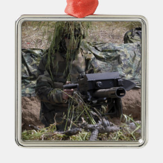 A soldier with MK-19 grenade launcher Christmas Ornament