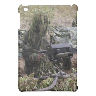 A soldier with MK-19 grenade launcher iPad Mini Case