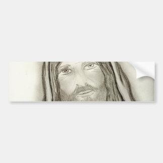 A Solemn Jesus Car Bumper Sticker