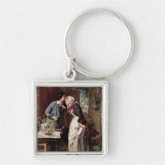 A Son s Devotion 1868 oil on canvas Key Chain