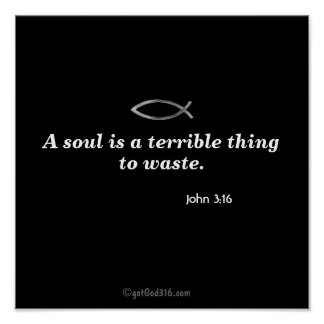 A soul is a terrible thing to waste gotGod316 com Posters