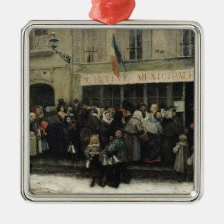 A Soup Kitchen during the Siege of Paris Christmas Ornament