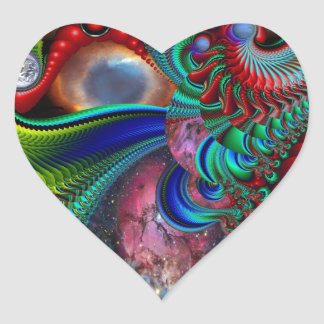 A Space Odyssey Heart Sticker