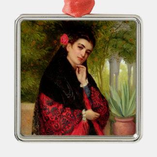 A Spanish Beauty, 1872 (oil on canvas) Christmas Ornament