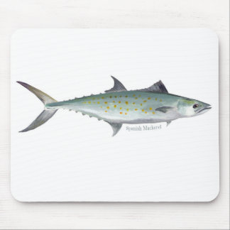A Spanish Mackerel mouse pad mouse mat.
