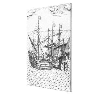 A Spanish Treasure Ship Canvas Print