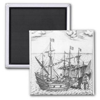 A Spanish Treasure Ship Fridge Magnets