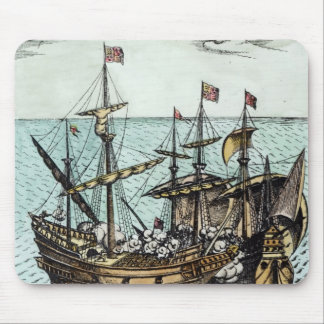 A Spanish Treasure Ship Mouse Mat