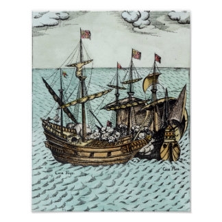 A Spanish Treasure Ship Poster