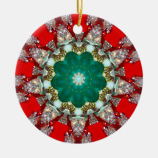 A Sparkling Christmas Fractal Christmas Ornament