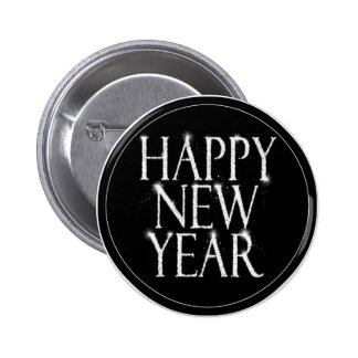 A Sparkling Happy New Year 6 Cm Round Badge