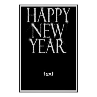 A Sparkling Happy New Year Poster