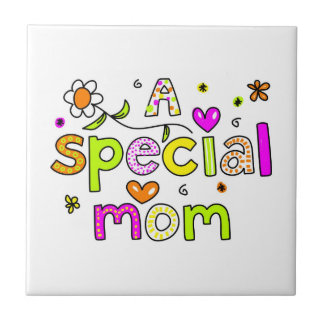 A Special Mom Small Square Tile