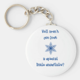 A Special Snowflake Key Ring