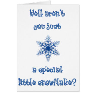 A Special Snowflake Note Card