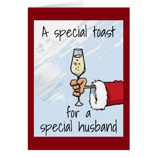 """A """"SPECIAL TOAST"""" FOR """"YOUR HUSBAND"""" AT"""