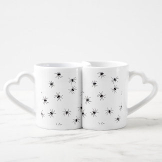 A Spiders flock (pattern) cartoon Couple Mugs