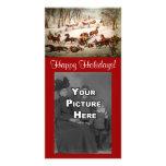 A Spill Out On The Snow Christmas Photocard Custom Photo Card