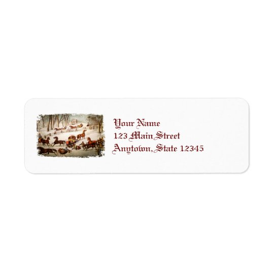 A Spill Out on the Snow Return Address Labels