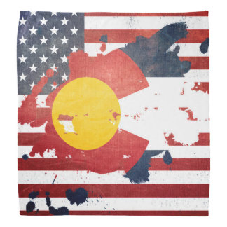 A Splash of Colorado | Weathered State Flag Bandana