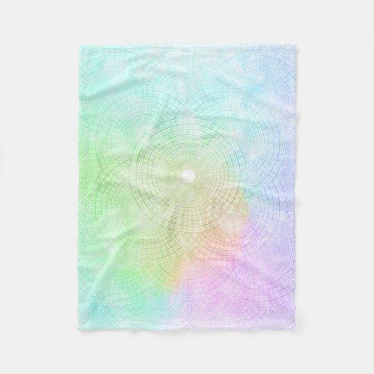 A Splash of Pastel Fleece Blanket