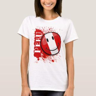 A Splash of Peru Smiling Flag T-Shirt