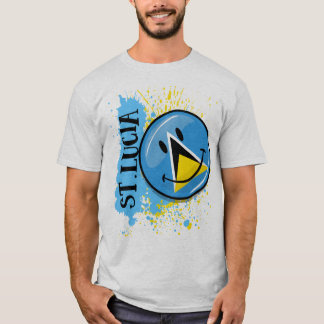 A Splash of St. Lucia Smiling Flag T-Shirt