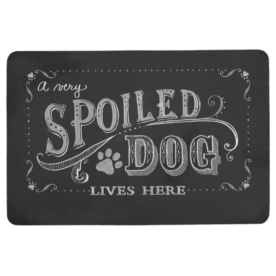 A Spoiled Dog Lives Here Mat Dog Lovers