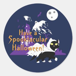 A Spooktacular Halloween Round Sticker