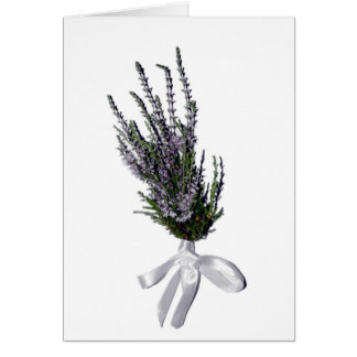 A Sprig of Heather from Scotland Card